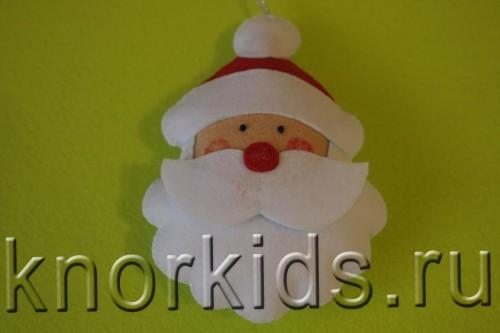 P3159432 500x333 Ёлочные игрушки из фетра. Дед Мороз.