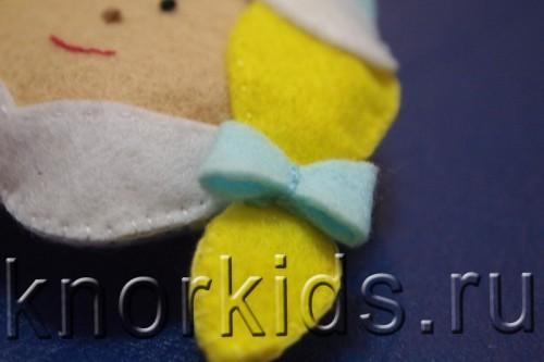 P3179446 500x333 Ёлочные игрушки из фетра. Снегурочка.