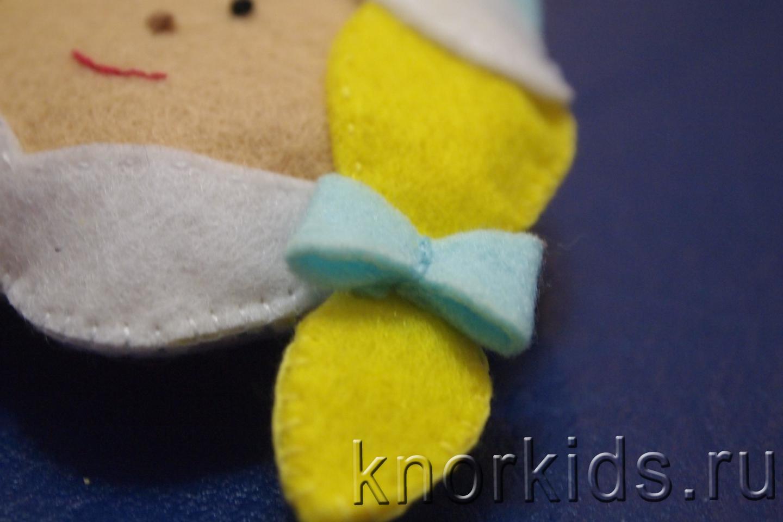 Ёлочная игрушка из ткани своими руками