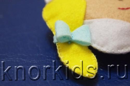 P3179448 500x333 Ёлочные игрушки из фетра. Снегурочка.