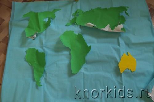 PA088283 500x333 Карта мира из велкроткани
